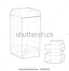 Retail Dispenser Box from Two Pieces with Die Line Template - stock ...