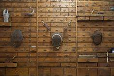 Vintage Fencing Masks via Antiquities Warehouse The Sporting Life, Antique Doors, Architectural Salvage, Antiquities, Fencing, Home Accents, Warehouse, Phoenix, Door Handles