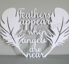 Feathers appear paper cutting template – commercial use | Totally ...