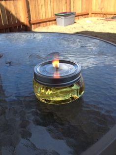Mason jar citronella candles . Pinterest project #2