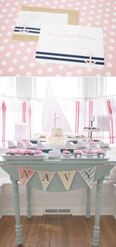 Sailor Girl Nautical themed birthday party