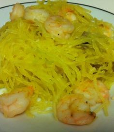 Journey to Health ~ Recipes ~ Garlic and Herb Shrimp and Spaghetti Squash