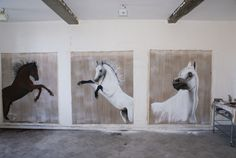 A  l`atelier-cheval-Pur-sang-arabe