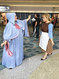Cinderella gets to go to the cosplay convention with the help of her fairy godmother