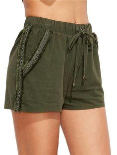 Short feminino Verde Militar - Compre Online