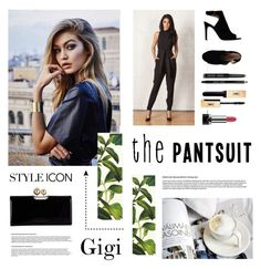 """""""Gigi will run the world...with pantsuit"""" by katestyls02 ❤ liked on Polyvore featuring Cameo, Kate Spade, Ted Baker, Tory Burch, Bobbi Brown Cosmetics, Marc Jacobs and thepantsuit"""