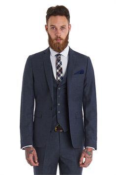 Moss London Slim Fit Grey Flannel 3 Piece Suit