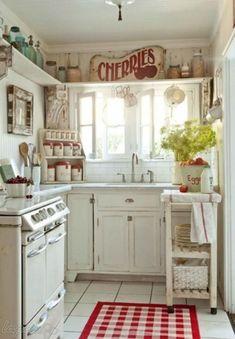 Кухня в стиле шебби шик.