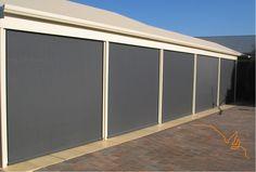 Ziptrak Cafe Blinds by SA Decor ph 1300624075 Ziptrak Blinds, Cafe Blinds, House Blinds, Wood Blinds, Blinds For Windows, Outdoor Blinds, Roller Shutters, Ph, New Homes