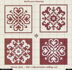biscornu. Sewing pattern graph: cross stitch, plastic canvas.