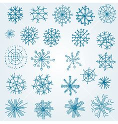 Hand drawn snowflakes vector 660123 - by kynata on VectorStock®