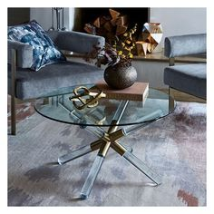 West Elm Pavlova Coffee Table, Blackened Brass/Glass ($499) ❤ liked on Polyvore featuring home, furniture, tables, accent tables, west elm furniture, glass table, brass furniture, glass coffe table and west elm