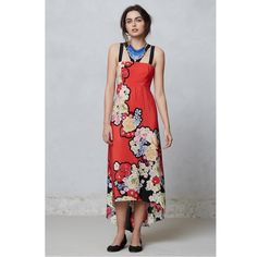 Leifsdottir for Anthropologie picolina maxi dress! Leifdottir Picolina floral print maxi dress! Size 2 worn once. Excellent condition! 100 % silk. BUNDLE and SAVE! Anthropologie Dresses High Low