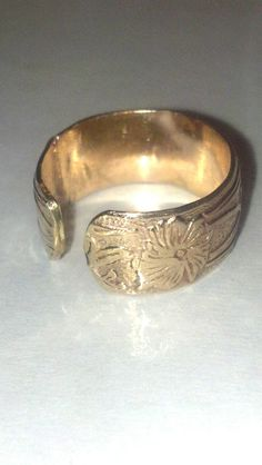 gold filled toe ring band flower pattern by WICKEDWIRED on Etsy, $20.00