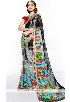 Conspicuous Printed Saree In Georgette Fabric