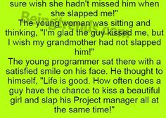 A Young Programmer And His Project Manager (Funny Story) Funny Marriage Jokes, Funny Jokes, Funny Stories, Project Management, The Neighbourhood, Trends, Thoughts, Guys, Life