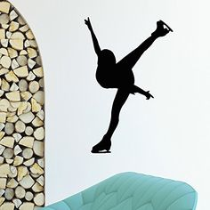 Wall Decal Vinyl Sticker Sport Gym Girl Skater Ice Figure Skating Decor Sb633 ElegantWallDecals http://www.amazon.com/dp/B012DR7YQK/ref=cm_sw_r_pi_dp_tbkYvb1Y7QGMK