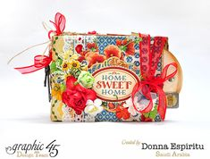 Donna's Home Sweet Home tag mini album & video tutorial #graphic45 by Donna Espiritu; July 2015