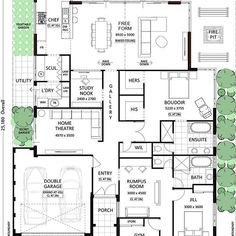 It's Floor Plan Friday! 🙌🏻🏡 I've got this one up on my blog today. What about the HIS and HERS wardrobes?? I actually really like this whole plan. Link in profile to see more. — #floorplan #floorplanfriday #houseplan #hisandhers #wardrobe #freeform #openplan #openplanliving