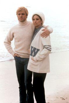 1973 Robert Redford t-neck & Barbara Streisand - The Way We Were ~ Collegiate Sweater Turtleneck