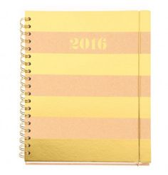 Kraft gold stripe week to view 2016 planner diary - Diaries - Diaries & Organisers - Stationery Christmas Gift Guide, Christmas Gifts, Christmas 2015, Weeks Until Christmas, Best Gifts For Her, Little Black Books, Paperchase, Gold Stripes, 2016 Planner
