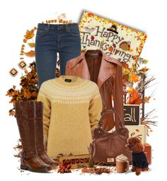 """Happy Thanksgiving!"" by flattery-guide ❤ liked on Polyvore featuring Harvest, Yves Saint Laurent, Lowie, Marc by Marc Jacobs, Frye, Tory Burch, thanksgiving and thanksgiving2016"
