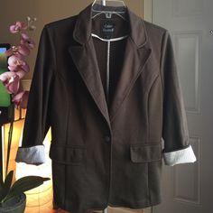 Boyfriend Blazer Army green boyfriend blazer. Pinstripe Cuffed sleeves with front pockets Jackets & Coats Blazers