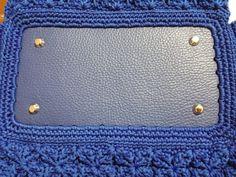 Fondo rettangolare borsa -  Come agganciarsi -  Crochet