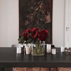 Delving into home, work, style and culture, Kinfolk promotes quality of life and connects a community of creative professionals from London to Tokyo. Peonies Season, Kinfolk Magazine, Red Peonies, Decor Styles, Glass Vase, Bloom, Candles, Cool Stuff, Instagram Posts