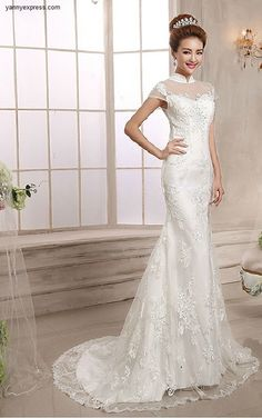 Chinese Wedding Gown Mandarin Collar Bridal Illusion Exquisite Dress