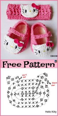 Cute Crocheted Baby Shoes - Free Patterns Cute Crocheted B Sie Babyschuhe kostenlose Muster Cute Crocheted Baby Shoes – Free Patterns - Pinerum Crochet Wave Pattern, Crochet Patterns, Free Pattern, Pattern Ideas, Crochet Ideas, Crochet Baby Sandals, Crochet Baby Clothes, Baby Shoes Pattern, Baby Patterns