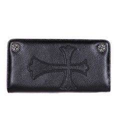 Chrome Heart Big Cross Leather Black #Wallet