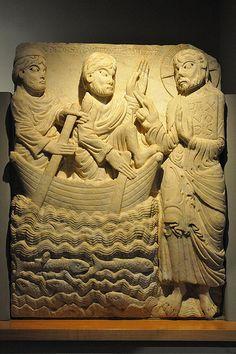 Relieve de la portada del Monasterio de San Pedro de Rodes,obra del maestro de Cabestany.  Museo Frederic Mare,Barcelona