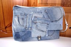 Schultertasche+Recycling+Jeans+blau+Upcycling+von+MarionGreRecycling