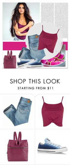 """""""Today look"""" by janee-oss ❤ liked on Polyvore featuring Oris, American Eagle Outfitters, Topshop, Kara and Converse"""