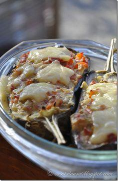 Vinete umplute Romanian Food, Romanian Recipes, Eggplant, Lasagna, Brunch, Meat, Chicken, Dinner, Vegetables