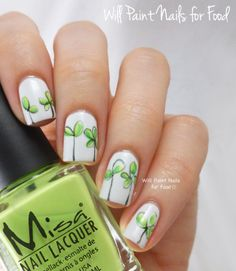 I like the sketchy look along with the bright green on the plain white background =) Will Paint Nails for Food: The Digit-al Dozen Does Monochrome: Lil' Green Sprouts