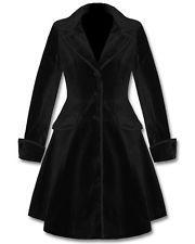 Spin Doctor Dandy Black Velvet Victorian Inspired Coat Jacket VTG.