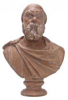 An Italian Terra cotta Bust depicting Socrates