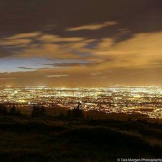 Good Night From Ireland A great view of the whole of Dublin by Mountain City, Dublin City, Night City, Great View, Wonderful Places, Good Night, Ireland, Sunset, Instagram Posts