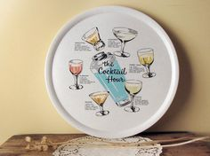 vintage cocktail tray  1960s Hostess melamine by sparrowsalvage, $22.00