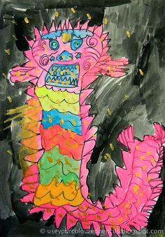 Use Your Coloured Pencils: Chinese Dragon Paintings