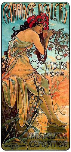 Carriage Dealers Alphonse Mucha 1902
