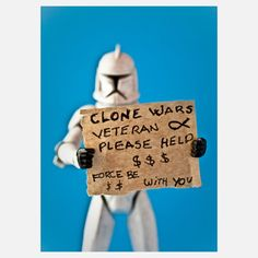 Funny!  But $$$!  Clone Vet 16x24, $178, now featured on Fab.