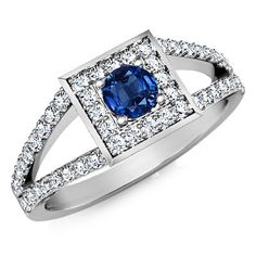 Amazing unique handmade real natural blue sapphire diamond ring made of 14K White Gold or 14K Yellow Gold .engagement diamond ring jewelry by Goldiamm on Etsy https://www.etsy.com/listing/472352958/amazing-unique-handmade-real-natural