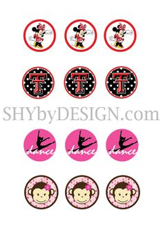 Free Printable Bottle Cap | Free Printable Minnie Mouse & Texas Tech Bottle Cap Designs ...