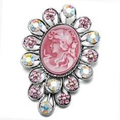Pugster July Birthstone Flower Red Beauty Cameo Brooches And Pins Vintage Pugster. $15.49. Can be pinned on your gown or fastened in your hair with bobby pins.. Exquisitely detailed designer style with Swarovski cystal element.. Money-back Satisfaction Guarantee.. Occasion: casual wear,anniversary, bridal, cocktail party, wedding. One free elegant cushioned Gift box available with every order from Pugster.