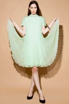 Vintage Deadstock 1960s Sequin Pleated Trapeze Dress http://thriftedandmodern.com/vintage-1960s-deadstock-sequin-trapeze-dress