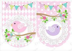 candy bar pajaritos - Google Search Bird Birthday Parties, Garden Birthday, Baby Birthday, Happy Birthday Banner Printable, Happy Birthday Banners, Bird Party, Baby Shawer, Bunting Banner, Little Birds