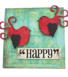 Feeling #happy :) Mixed media canvas instructions #Faber-Castell @Design Memory Craft